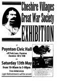 Cheshire Villages Great War Society Great War Society Exhibition, 13th May 2017